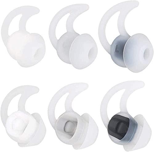 Adhiper QC20 - Auriculares de Silicona de Doble Brida con cancelación de Ruido compatibles con Bose QuietControl 30 QC20 QC20i QC30 Soundsport Free SIE2 IE2 IE3 Auriculares inalámbricos (Blanco)