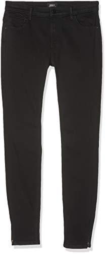 ONLY Damen 15126077 Skinny Jeans, Black, 40/L34 (Herstellergröße: L)