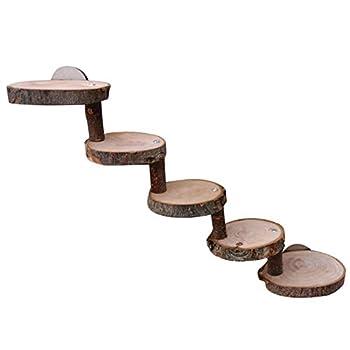 Sroomcla Hamster échelle en Bois Mini Pont pour Animaux de Compagnie Jouet sûr pour Animaux de Compagnie Escalade Outil de Formation d'escalier Belle en Bois à mâcher Jouets échelle pour Practical