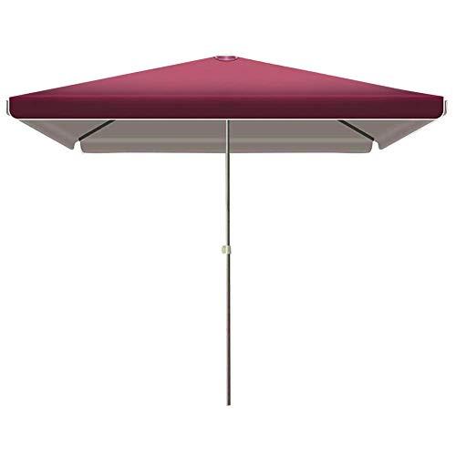 AWJ - Sombrillas de jardín rectangulares para jardín, parasol, con 4 alturas, ajustables para exteriores, jardines, balcones, patio, toldo
