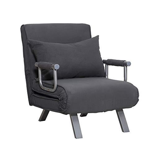 Wangxiaoxia Bequemer Sessel Schlafsessel Gästebett Mit Armlehne 3-in-1 Klappeinzelbett Klappbar Einstellbare Rückenlehne L65 X B69 X H80 Cmfor| Living Room |Bedroom |Theater Home