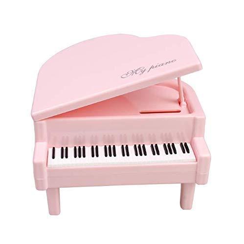 Gwill Klassische Kunststoff Sparschwein Mini Klavier Spardose Spardose für Kinder Kindergeburtstag Geschenke Wohnkultur Rosa