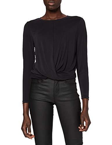 ONLY Damen ONLFREE Life L/S Twist Short TOP JRS Langarmshirt, Black, M
