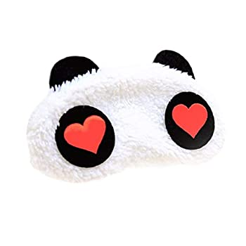 Hg Kangqi Cartoon Panda Sleeping Mask Animal Sleeping Mask Eye Mask for Sleeping Blindfold Eye Cover Sleep Mask for Adult Kids