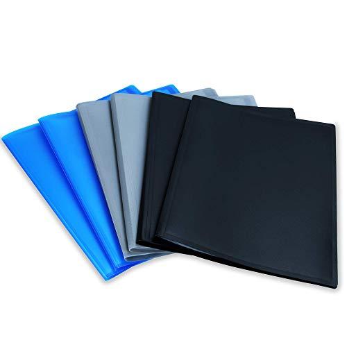 Conjunto de 6 carpetas de visualización A4 | 20 fundas de plástico | Carpeta de presentación | Carpetas | Artículos de oficina y universitarios | Pukkr (Mixto)