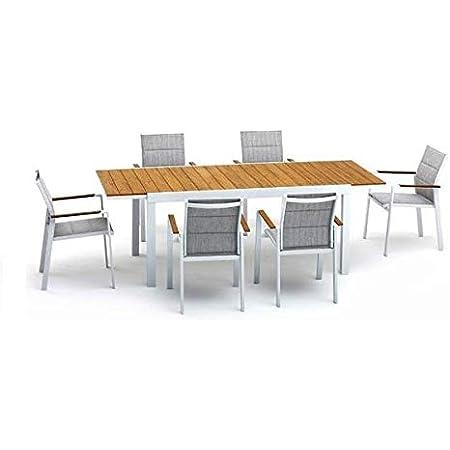 Keter Set Harmony Tavolo Allungabile Con 6 Sedie Senza Braccioli Amazon It Giardino E Giardinaggio