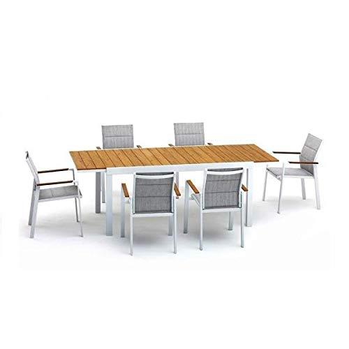 TAVOLO BEVERLY Bianco Allungabile misura 164225x90 cm alluminio polywood
