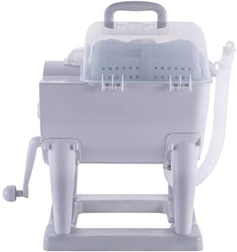 Sooiy Portátil Manual no eléctricos Lavadora Handcranking Lavadora y Secadora de Spin...