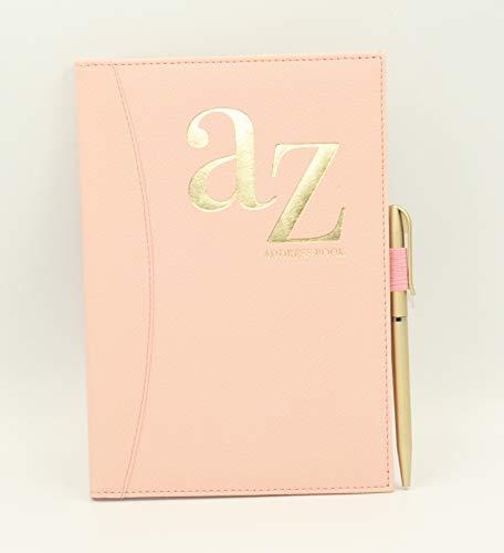 A do Z telefon A5 książka adresowa indeks A-Z twarda tylna obudowa z długopisem (różowy)