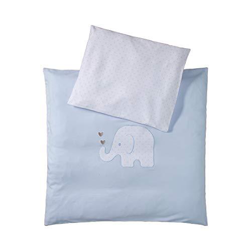 Bornino Home Jersey-Bettwäsche Elefant 35x40/80x80 cm (2-tlg. Set) - Babybettwäsche aus reiner Baumwolle