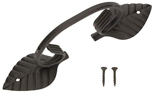 KOTARBAU® Tirador de puerta Vitage de hierro forjado negro, 225 mm, tirador para puerta corredera
