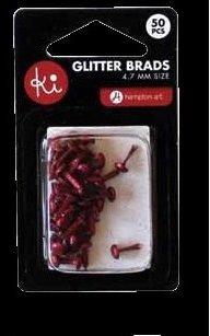 Ki Memories Mini Glitter Brads - Red by KI Memories