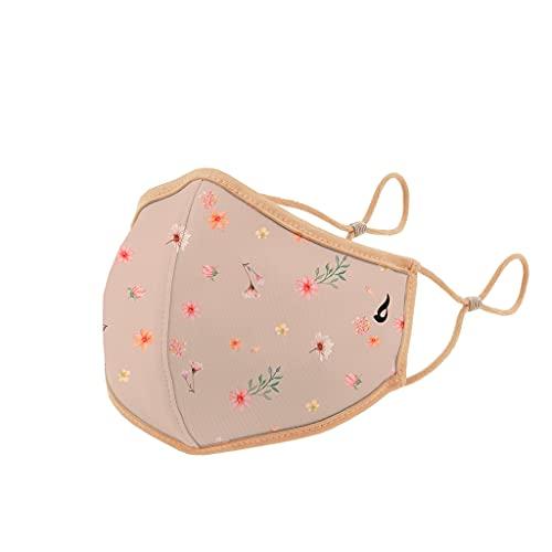 Abbacino mascarilla homologada y lavable para niños estampado floral beige
