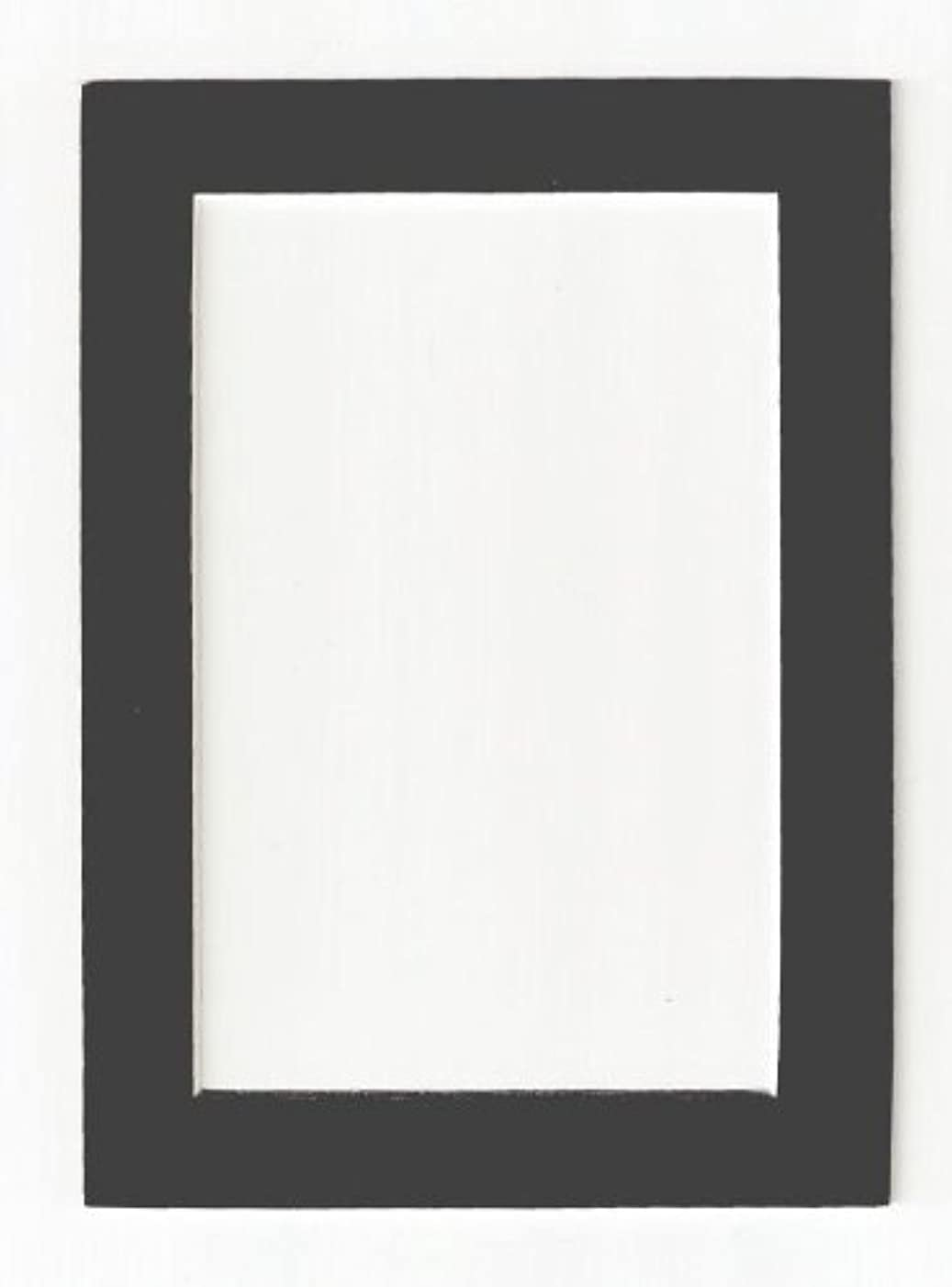 Charcoal - Dark Gray Acid Free Picture Frame Mat, 5x7
