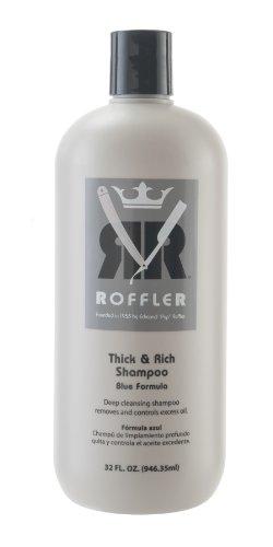 Roffler Thick and Rich Shampoo Blue Formula, 32 Fluid Ounce