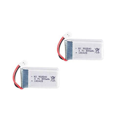 FSXMPL 3.7V 800mAh 902540 Batería de lipo y Cargador, para Syma X5 X5C X5SC X5SW para TK M68 para MJX X705C SG600 RC Drone repuestos Batería de 3.7v Lightgrey
