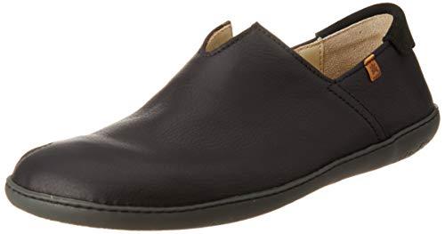 El Naturalista Unisex-Erwachsene N275 Soft Grain EL Viajero Slip On Sneaker, Schwarz (Black/Black Black/Black), 39 EU