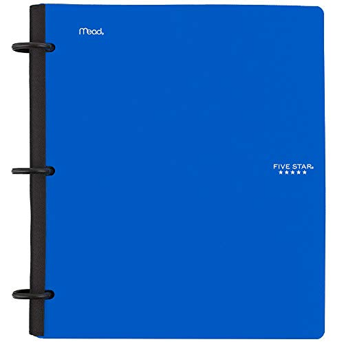 Five Star Flex Hybrid NoteBinder, 1-1/2 Inch Binder with Tabs, Notebook and 3 Ring Binder All-in-One, Blue (72405)