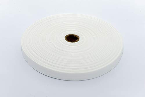MB Köperband Polyester Bandbreite 20 mm Bandfarbe weiß Rolle 100 lfm.