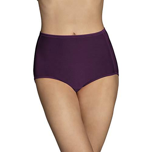 Vanity Fair Women's Underwear Illumination Brief Panty 13109, Sangria, Large/7