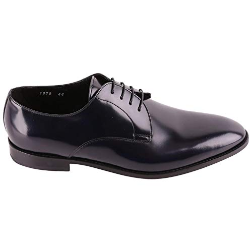 DOUCAL'S Luxury Fashion Man DU1978FORDUF028NB00 Blue Leather Lace-up Shoes | Season Outlet