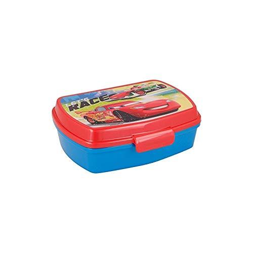 ALMACENESADAN 2077; Sandwichera Rectangular Multicolor Disney Cars, Producto de plástico, Libre BPA. Dimensiones Interiores 16,5x11,5x5,5 cm