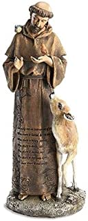 Woodington's Avalon Gallery St. Francis of Assisi Engraved Prayer 12 Inch Statue