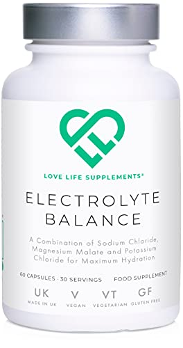 Electrolyte Balance by LLS | 60 Capsules - 30 Servings | Sodium Chloride, Magnesium Malate and Potassium Chloride for Maximum Hydration | Perfect for Ketogenic Diet | Love Life Supplements