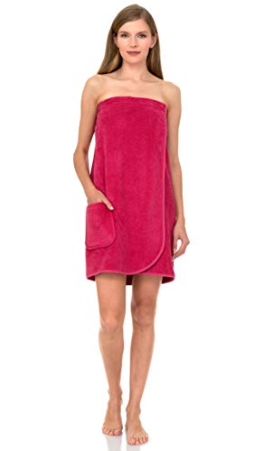 TowelSelections Damen Wickeltuch, Dusche & Bad, Frottee - Pink - XX-Large