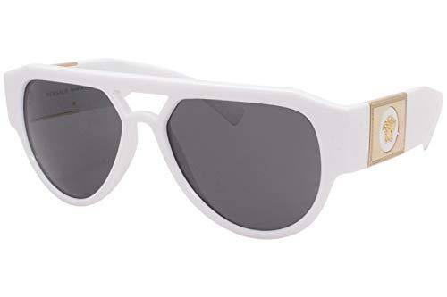 Versace Gafas de sol VE4401 314/87 gafas de sol hombre color Blanco gris tamaño de lente 57 mm