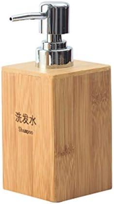 Radvihay Dispensador De Jabón Bamboo Soap Dispenser Container Pump Holder Juego De 4 Piezas (Color : C)