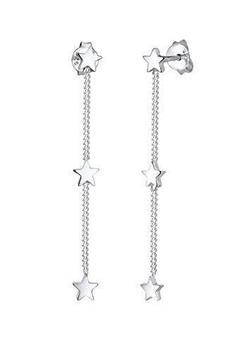 Elli Ohrringe Ohrhänger Stern Astro Trend 925 Sterling Silber