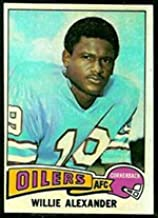 1975 Topps Regular (Football) card#139 Willie Alexander of the Houston Oilers Grade Excellent to Excellent Mint
