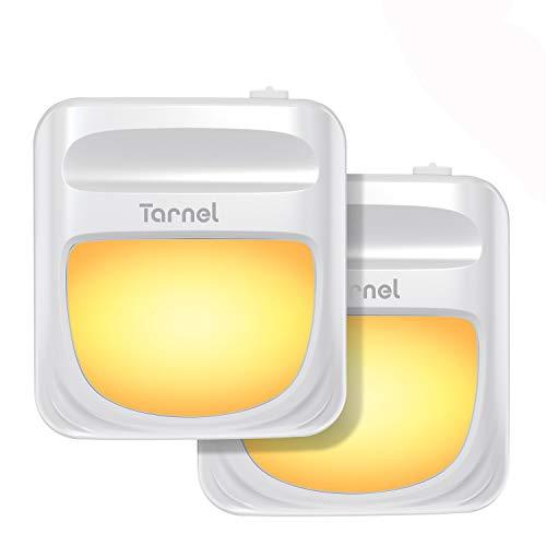 Tarnel Luz Nocturna con Sensor de Movimiento 2 Pack Luz Nocturna Infantil Enchufe con 3 Modos Brillo Ajustable Luz de Noche para Dormitorio Escalera Pasillo Cocina Sala Baño Blanco cálido