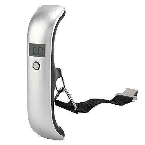 Lsaardth Báscula para Equipaje de 110 lb/50 kg Báscula de Peso Colgante, Báscula de Equipaje Digital Báscula de pesaje Báscula de Maleta con luz de Fondo