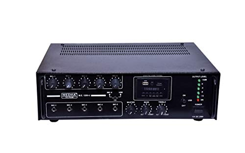 MEDHA D.J. PLUS Professional 120 Watt Karoke Bluetooth Amplifier with Digital Media Player