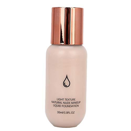 Fond de teint liquide de couleur claire, maquillage anti-cernes pratique liquide hydratant contrôle de l'huile crème anti-cernes outils de maquillage 30 ml(002)