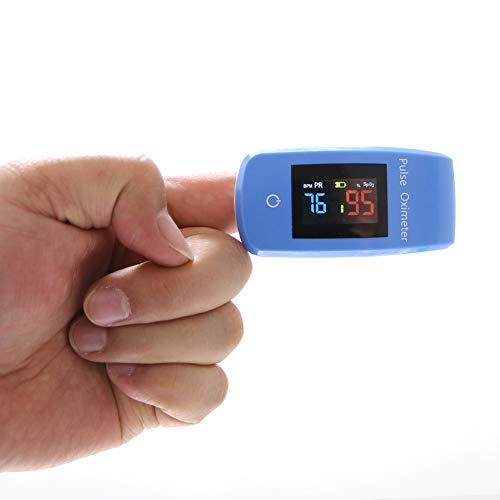 WHYTT Finger-LCD-Pulsoximeter Veterinär-Pulsoximeter SPO2 PR Pulsstärken-Pulsoximeter mit Datenspeicher und Alarmen Gewicht 100 g