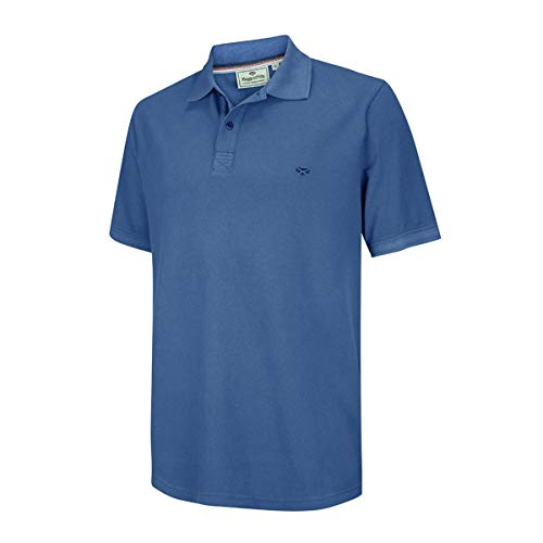 Hoggs of Fife Anstruther Washed Polo - Bleu Cobalt
