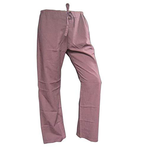 Panasiam - Pantalones de tela de algodón auténtico, talla M, 8 colores diferentes marrón 54