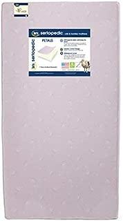 Serta Sertapedic Petals Fiber Core Crib and Toddler Mattress   Waterproof   Lightweight  GREENGUARD Gold Certified (Natural/Non-Toxic), Pink