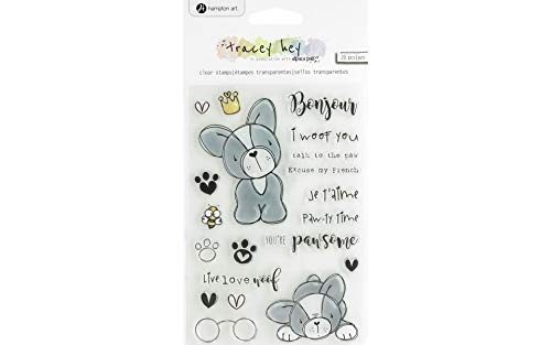 Hampton Art TH Clear Stamp Frenchie, None