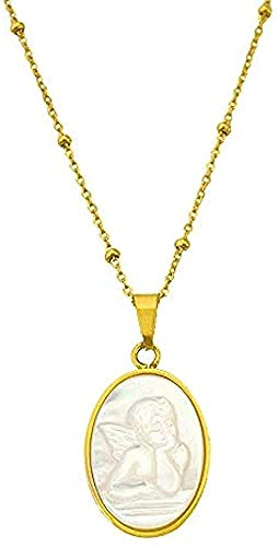 ZPPYMXGZ Co.,ltd Necklace Fashion Neklace Women's Angel Shell Pendant Necklace for Woman