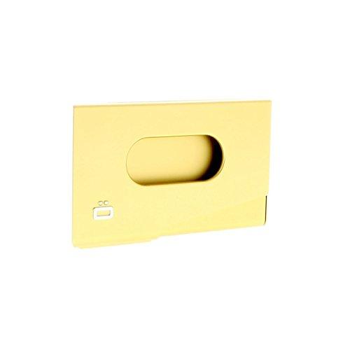 ÖGON Smart Wallets - Tarjetero para tarjetas de visita (aluminio anodizado, hasta 15 tarjetas), color dorado
