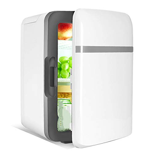 WUQIAO Mini Refrigerador 10 litros Portátil Belleza Maquillaje Skincare Frigorífico, Diseño De Iluminación LED De Doble Uso Doméstico, Refrigerador Compacto Silencioso