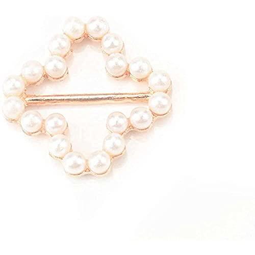 WYZQ 6 uds, Botones de Perlas, Hebilla de cinturón de Diamantes de...