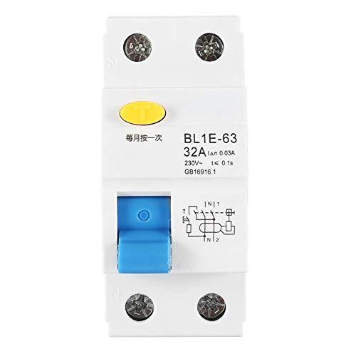 BL1E-63 32A 1P + N FI-Schutzschalter 230V 30mA Fehlerstromschutzschalter Steckdosen Leistungsschalter