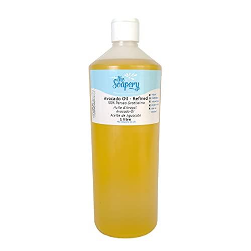 Olio di avocado – 1 litro di grado cosmetico raffinato per massaggi, aromaterapia, sapone e cura della pelle naturale