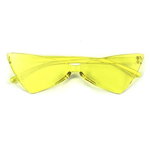 Único Gafas de Sol Sunglasses Gafas De Sol De Ojo De Gato A La Moda para Mujer, Gafas Triangulares Estrechas De Diseño D
