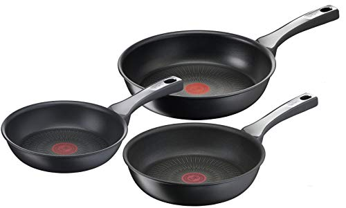 Tefal Unlimited On Set Sartenes 20-24-28 cm con revestimiento resistente, thermo-signal, apta...